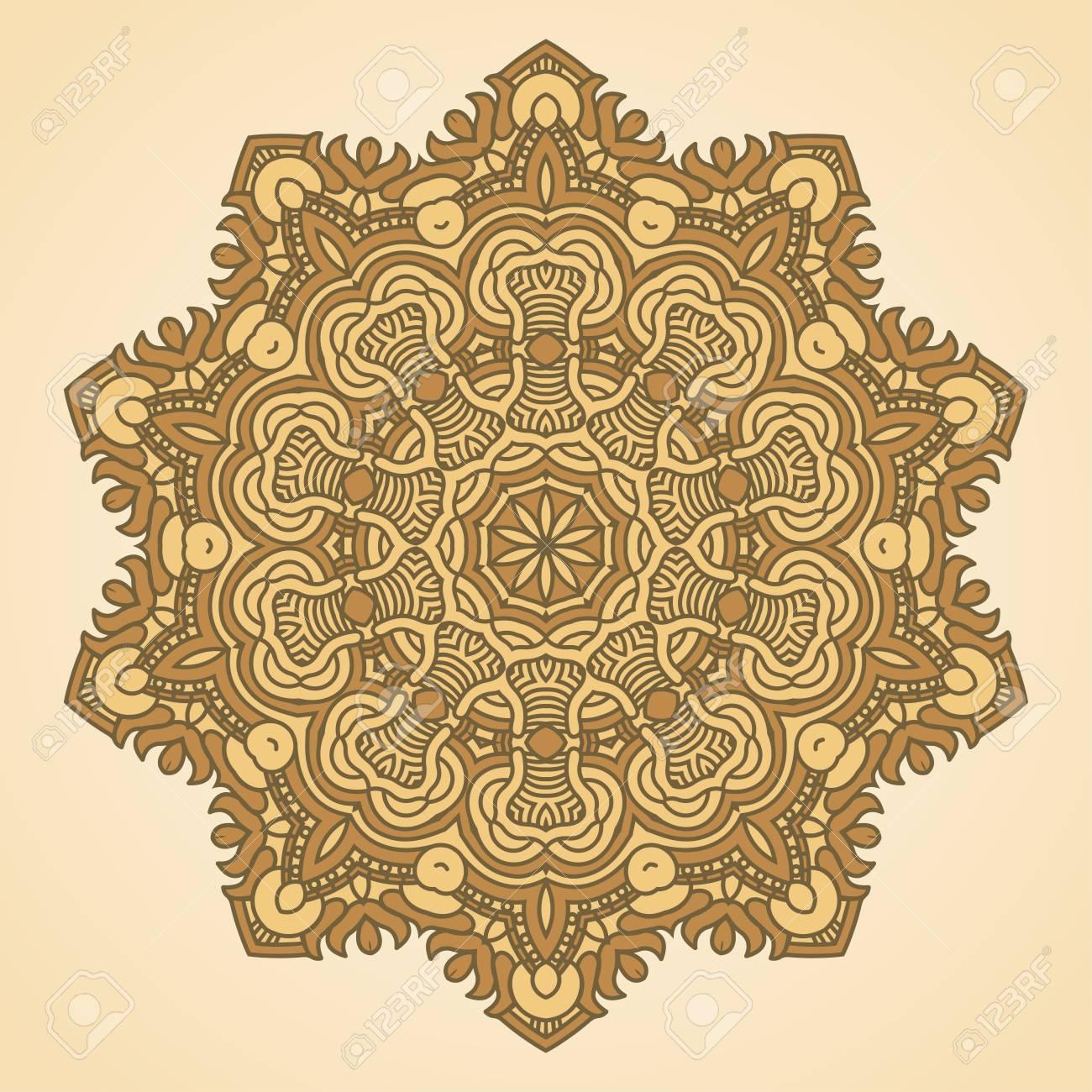 Vector round decorative design element Stock Vector - 17421841