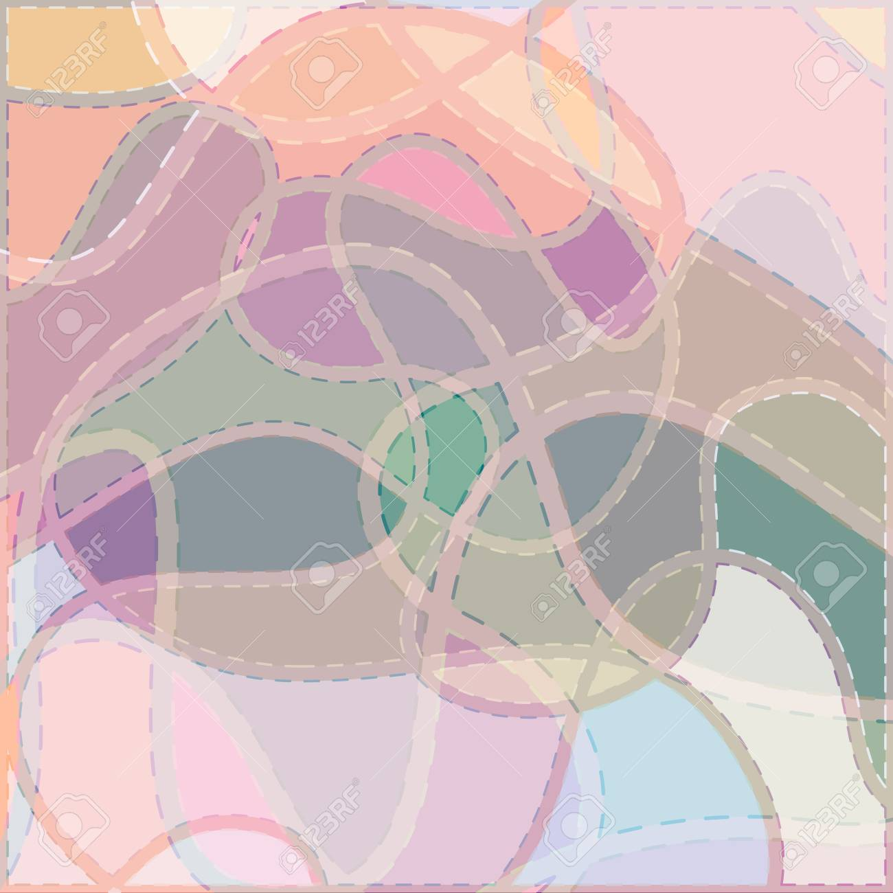 Color Curved Seams on a Colorful Background, Abstract Pattern, Vector Illustration Stock Vector - 22405884
