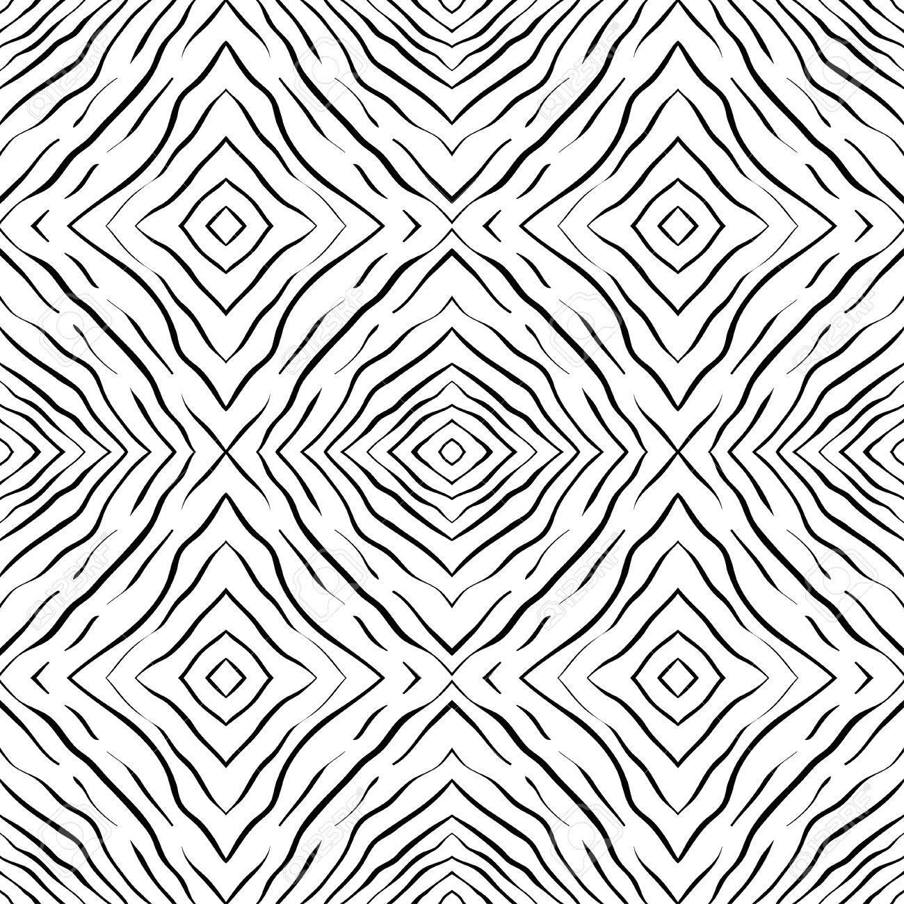 Nahtlose Handgezeichnete Abstrakte Muster Platz Hintergrund Vector