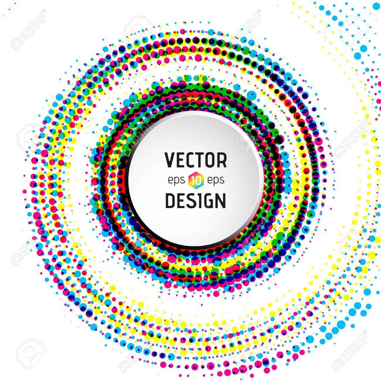 Colorful Abstract Spiral Element Stock Illustration 589446155 ...