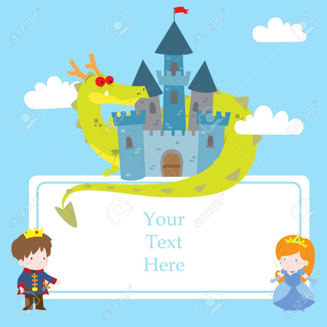 Cute Cartoon Vector Illustration Of Princess In Fairy Tale Theme ...