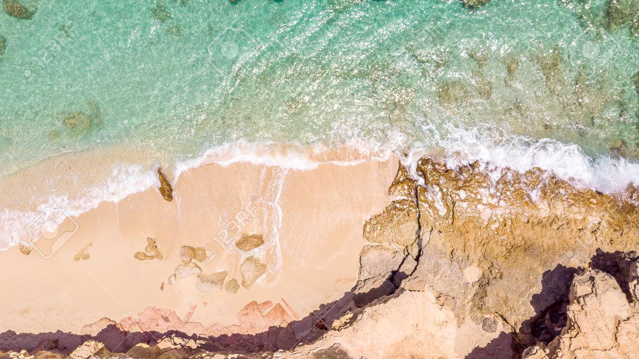 White sandy beach in cupecoy St.Maarten - 152079975