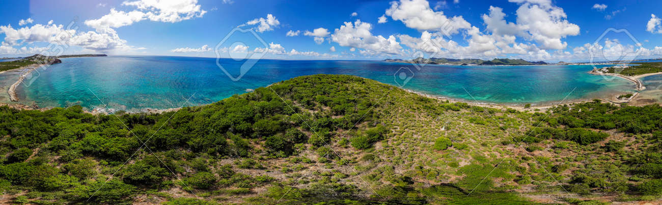Aerial view of la belle creole on the Caribbean island of st.maarten/st.martin - 152079982