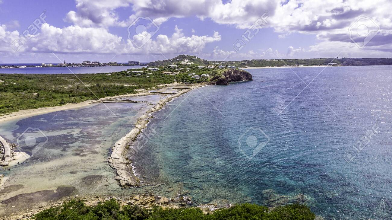 Aerial view of la belle creole on the Caribbean island of st.maarten/st.martin - 152080644