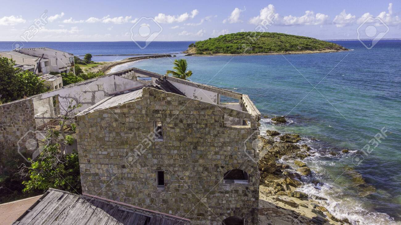 Hurricane causes damages to La belle creole building in the caribbean island of st.martin. - 152082249