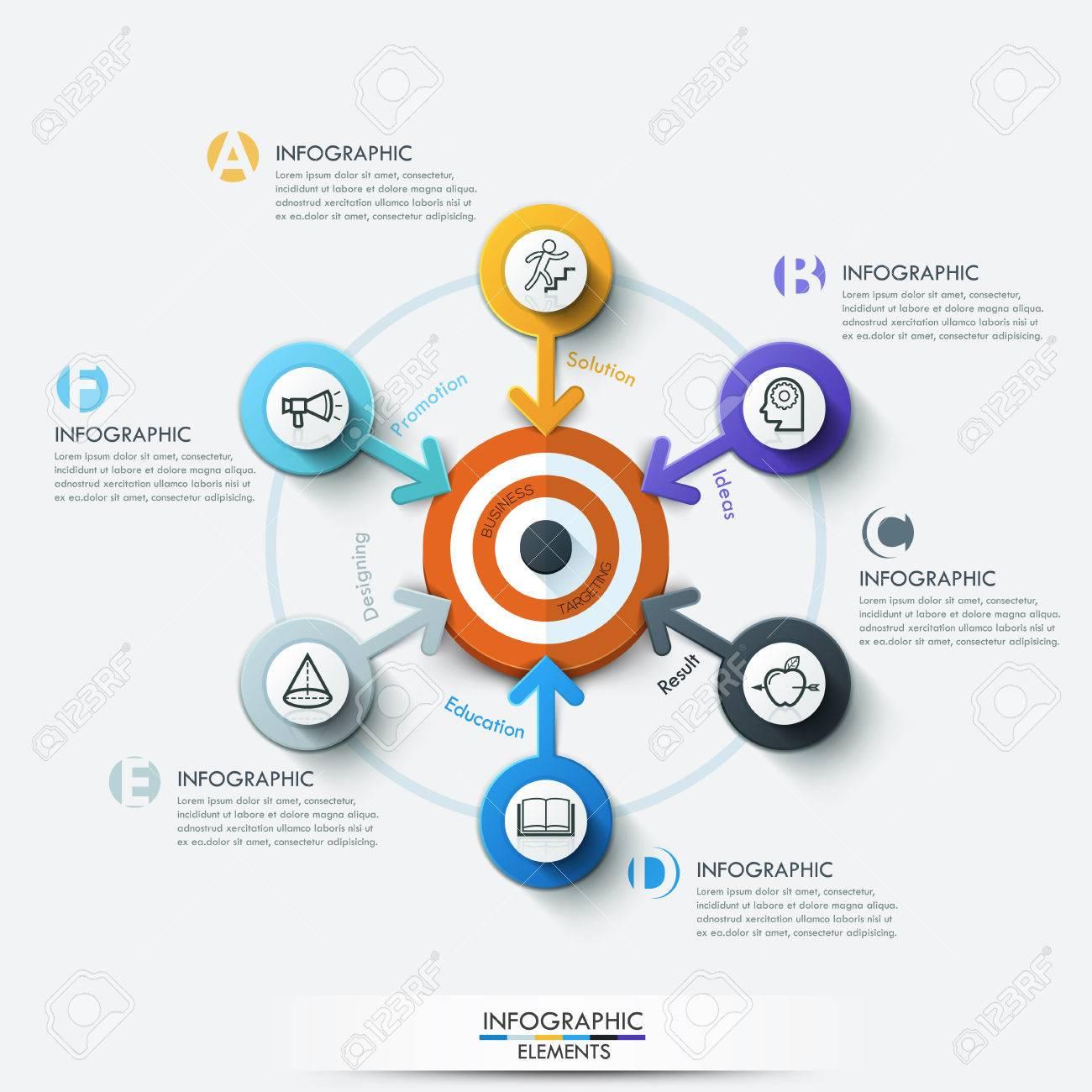 Business Ziel Marketing Konzept Ziel Mit Pfeil Und Linie Symbole