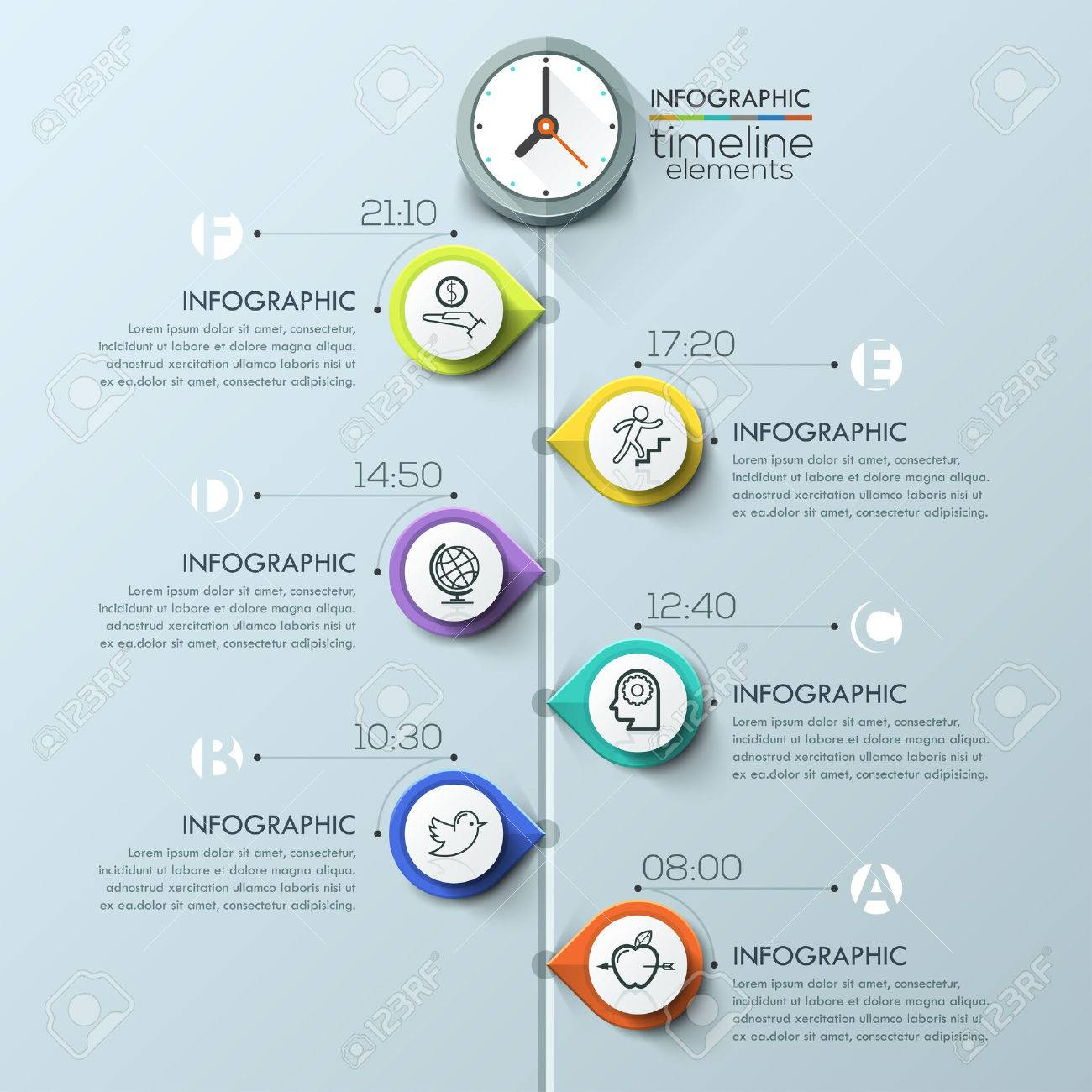 business timeline infographic template can be used for workflow