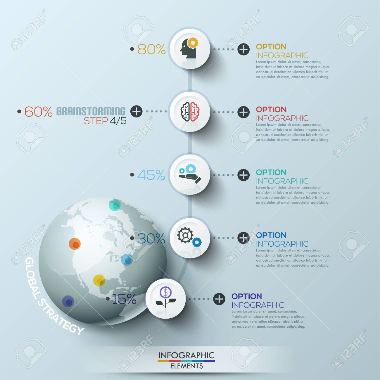 business process infographic template business global template