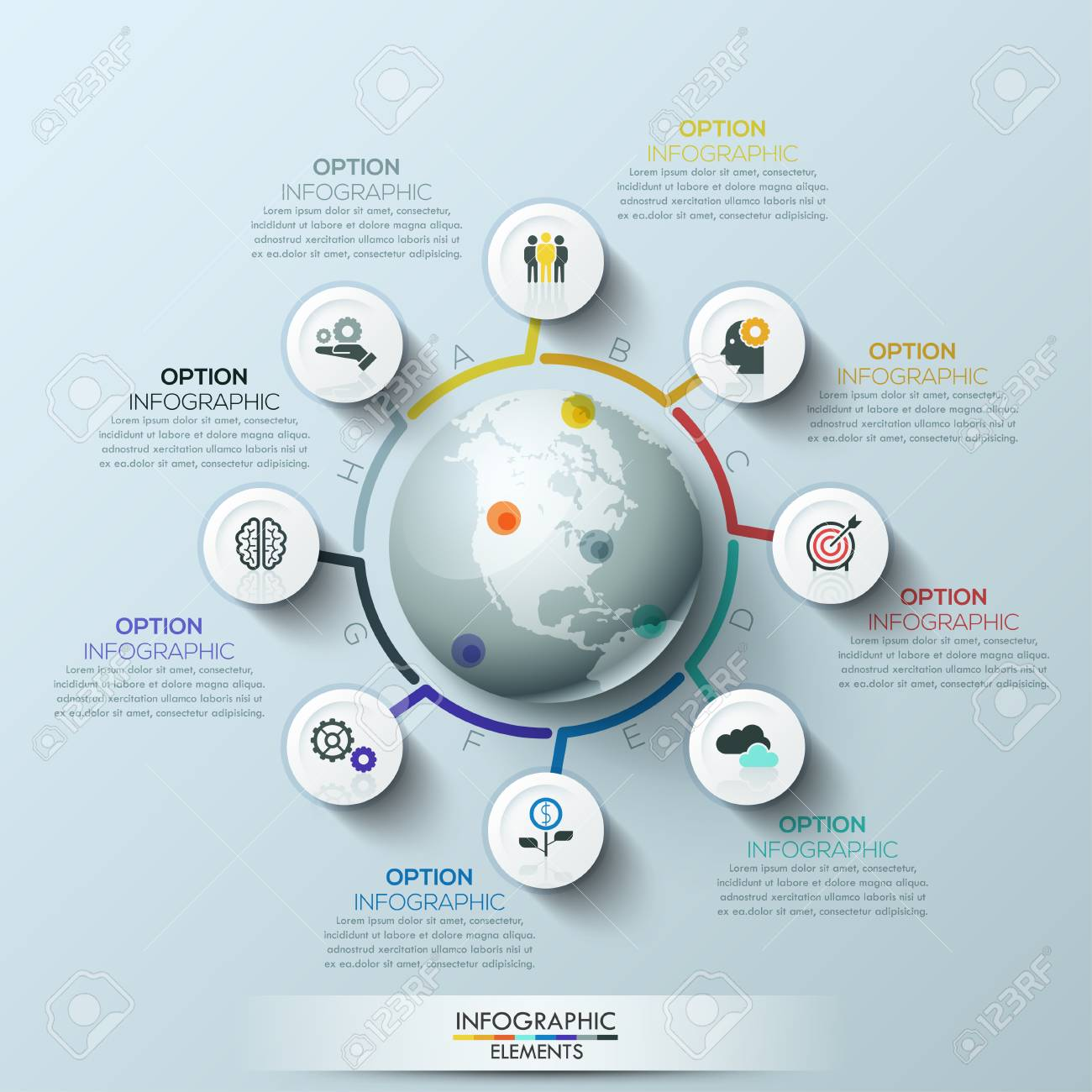 Business process infographic template business global template business process infographic template business global template with circles can be used for workflow friedricerecipe Choice Image