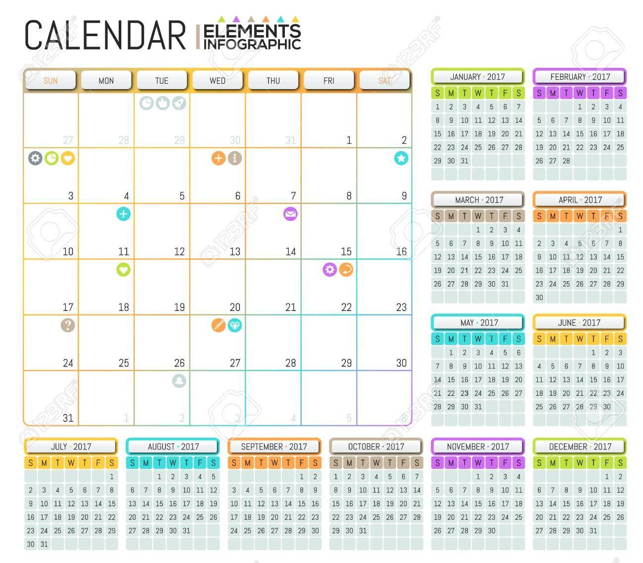 Magnífico Calendario Con Plantilla De Notas Colección - Ejemplo De ...