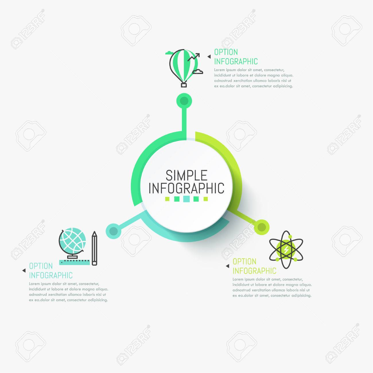 simple infographic design template. central circular element