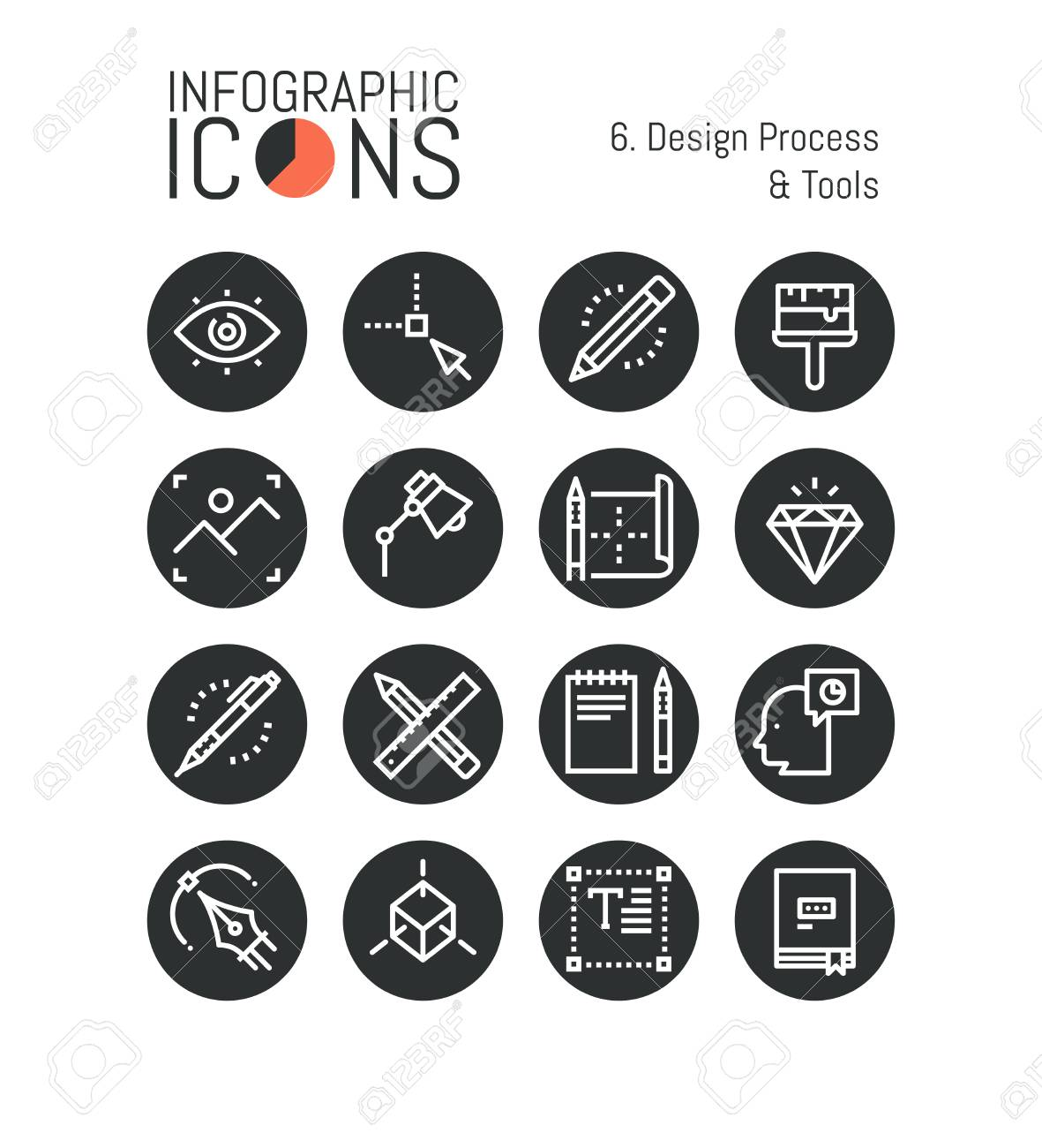 Bundle Of Minimal Thin Line Icons Design Process And Tools Royalty Free Cliparts Vectors And Stock Illustration Image 86484614