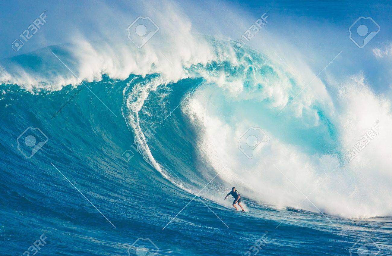 Maui Hi March 13 Professional Surfer Billy Kemper Rides A