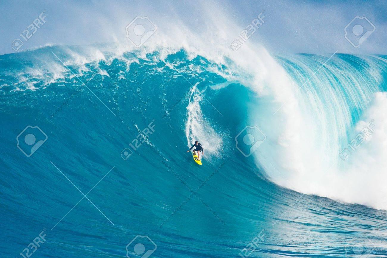 Maui Hi March 13 Professional Surfer Carlos Burle Rides A