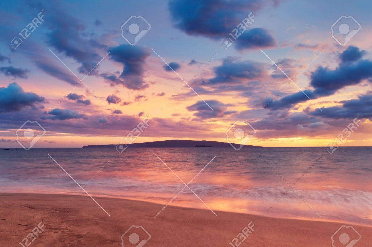 Sunset on Hawaii Beach - 12952530