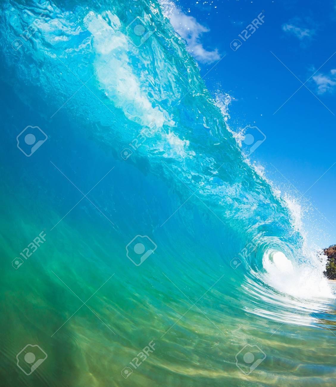 Blue Ocean Wave Stock Photo - 13542433