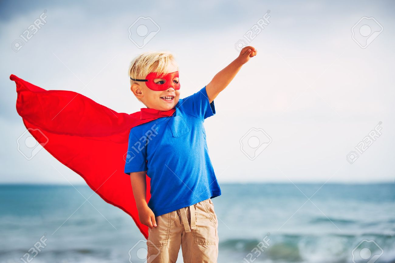 Super Hero Kid Stock Photo, Picture And Royalty Free Image. Image ...