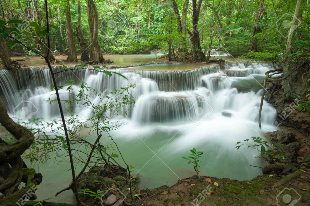 Waterfall at Kanjanaburi Thailand Stock Photo - 16657685