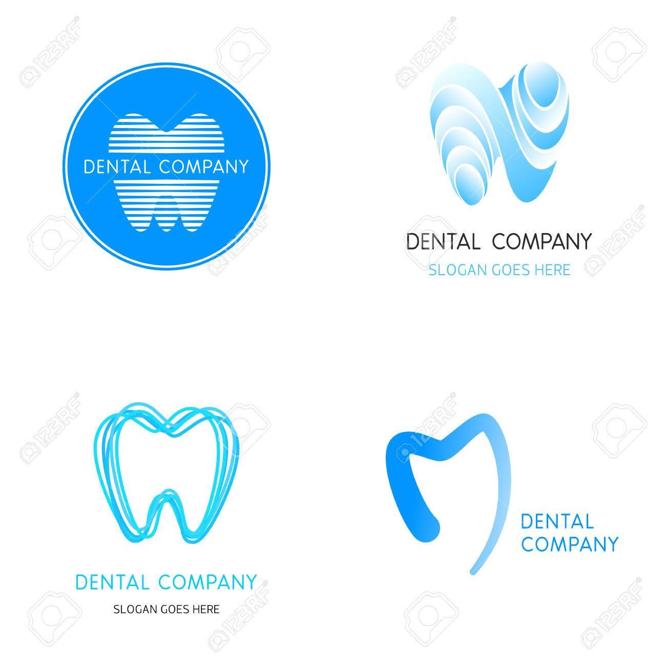 Dental Templates. Abstract Vector Teeth. A Set Of Dental Icon ...