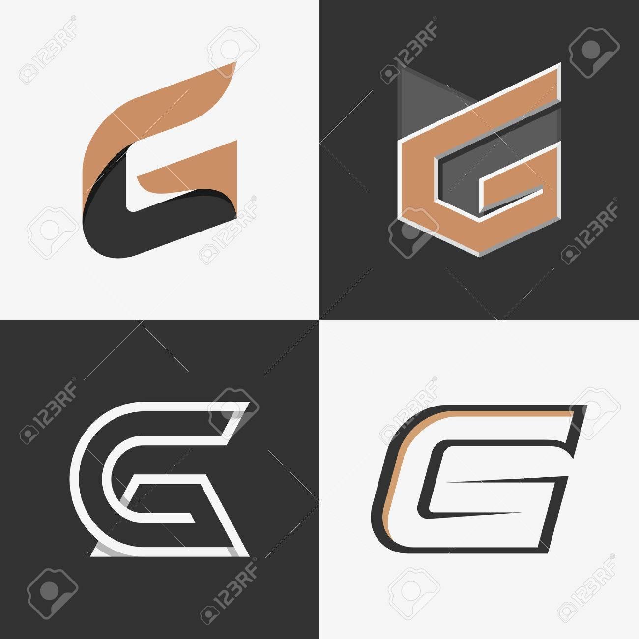 El Conjunto De Signos Letras G, Logotipos, Plantillas De Diseño ...