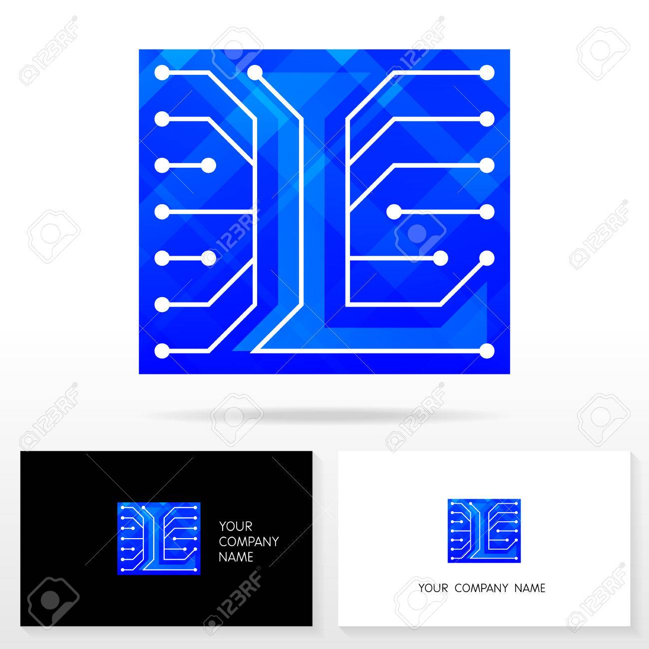 letter l logo design vector sign business card templates royalty