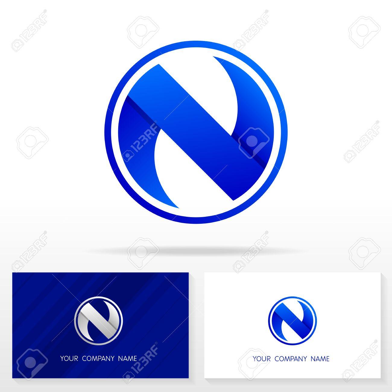 letter n logo design business vector sign business card templates