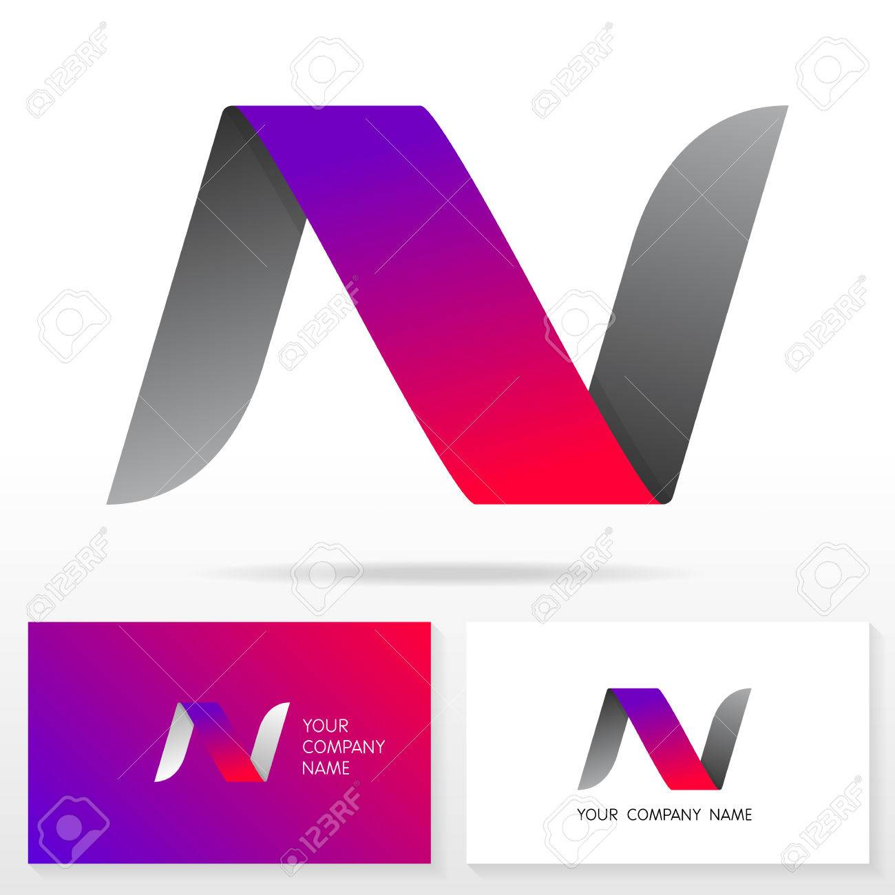 Letter n logo design vector sign business card templates royalty letter n logo design vector sign business card templates stock vector 46669936 spiritdancerdesigns Image collections