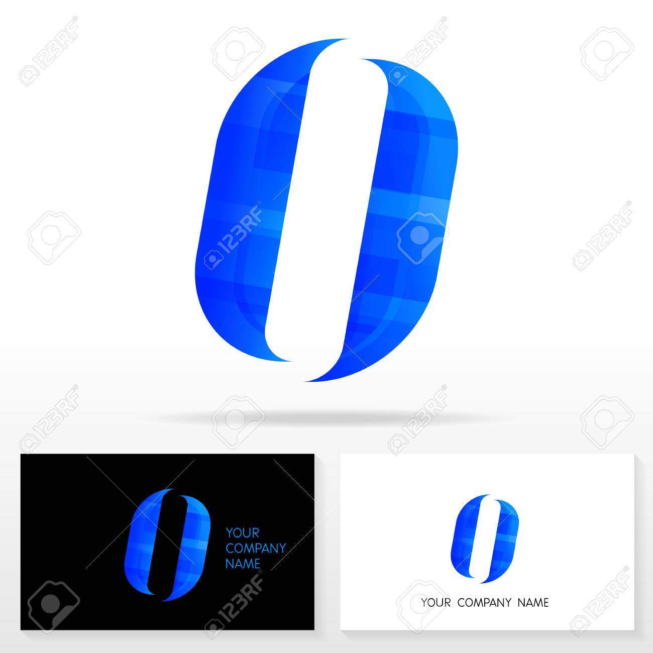 letter o logo design business vector sign business card templates