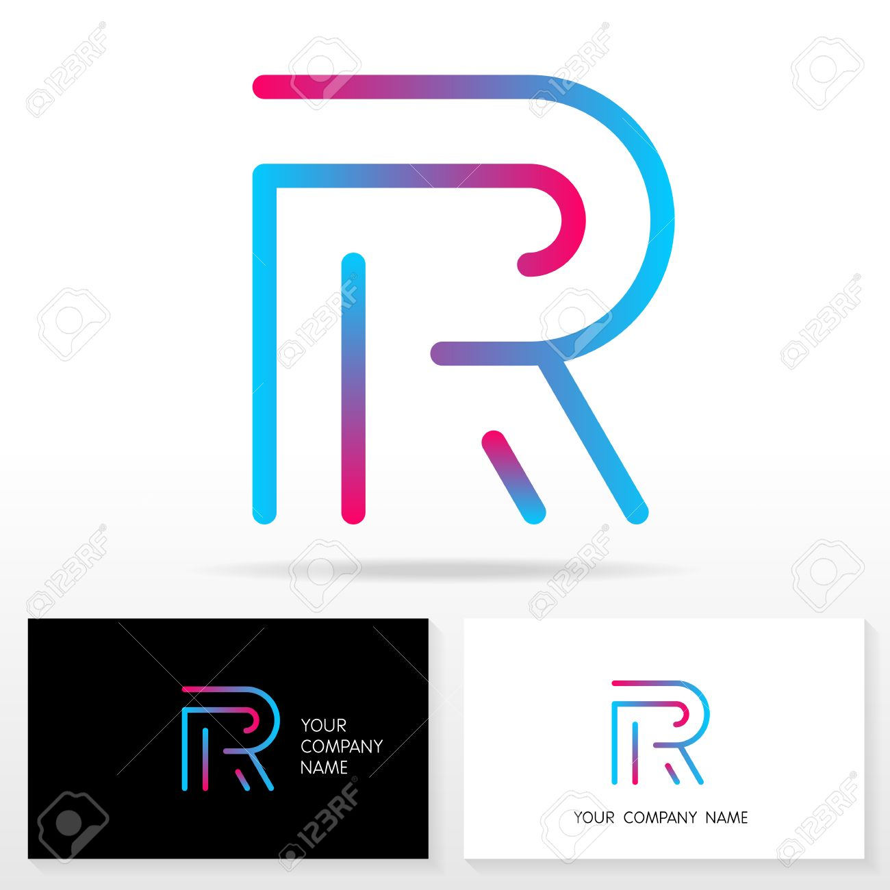 Letter r logo design vector sign stock vector business card letter r logo design vector sign stock vector business card templates stock vector spiritdancerdesigns Image collections