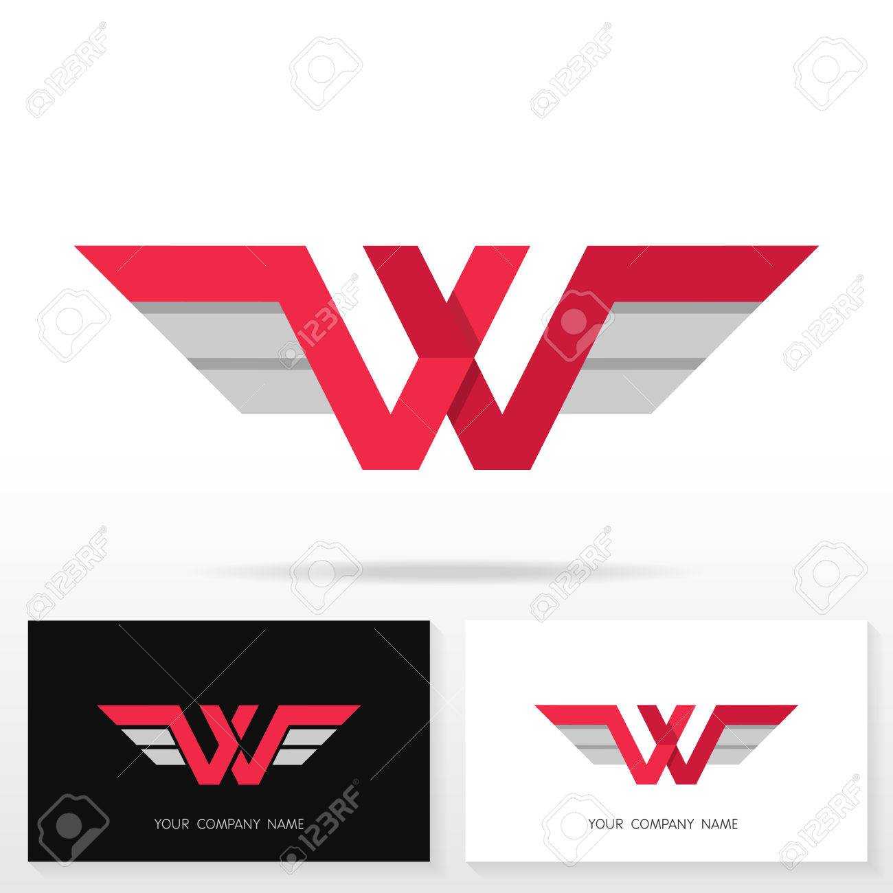 Letter w logo design business sign and business card templates banco de imagens letter w logo design business sign and business card templates reheart Gallery