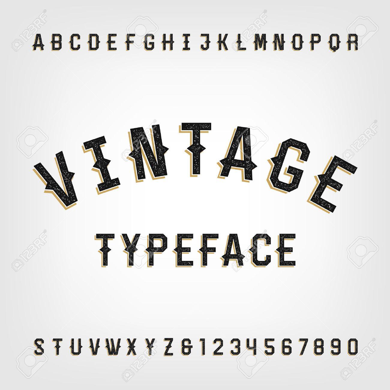 Favori Style Occidental Rétro Police De L'alphabet En Détresse. Les  HZ86