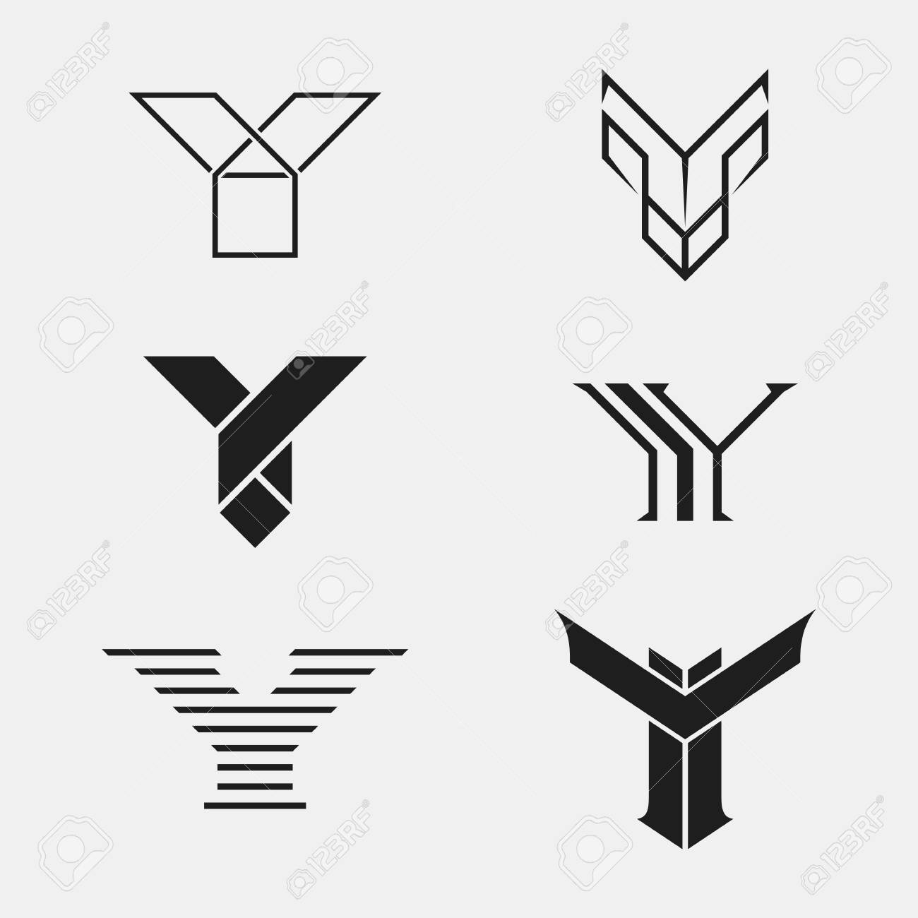 The set of letter y sign icon design template elements one the set of letter y sign icon design template elements one color stock maxwellsz