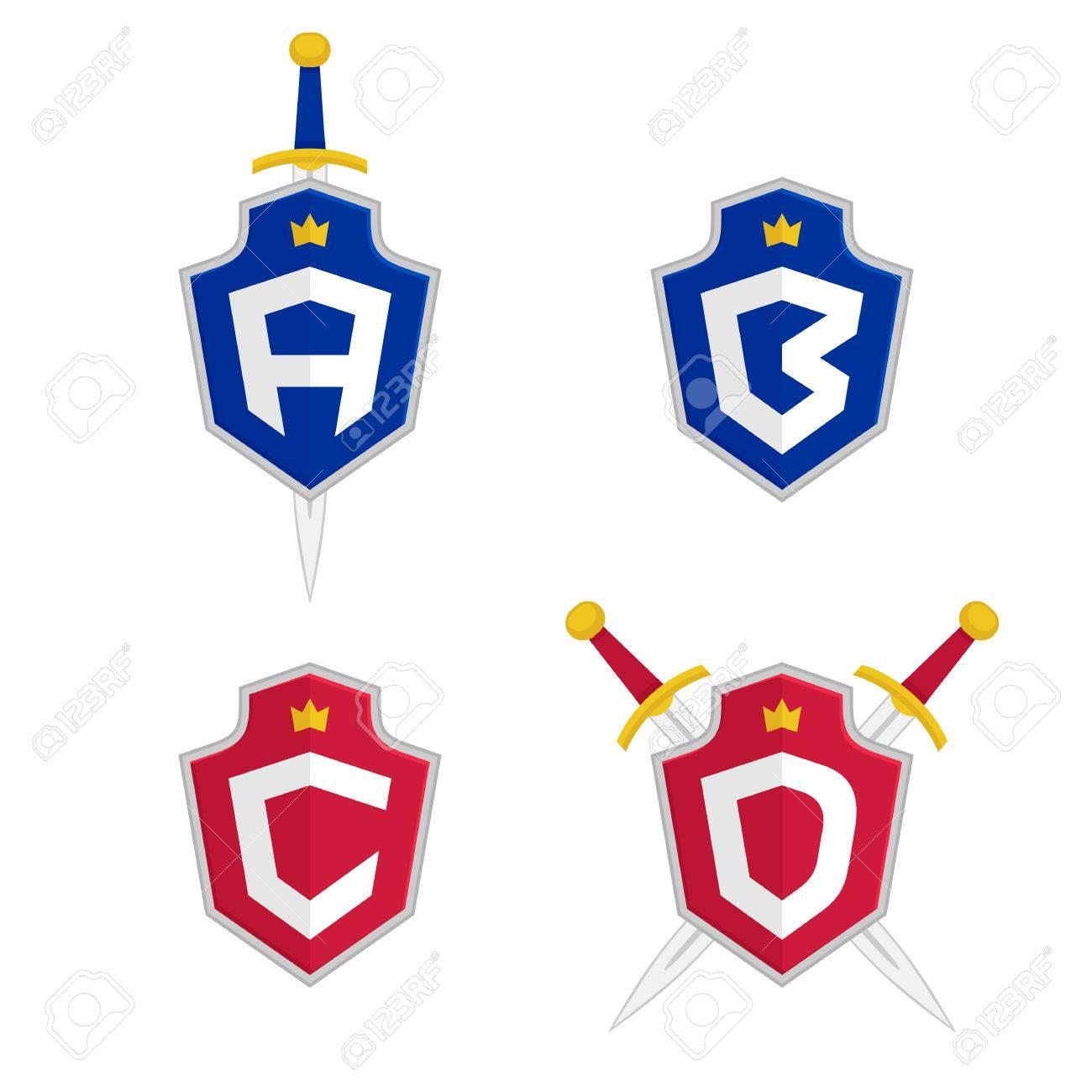 Letter a b c d vector logo templates letter logo with shield letter a b c d vector logo templates letter logo with shield spiritdancerdesigns Gallery
