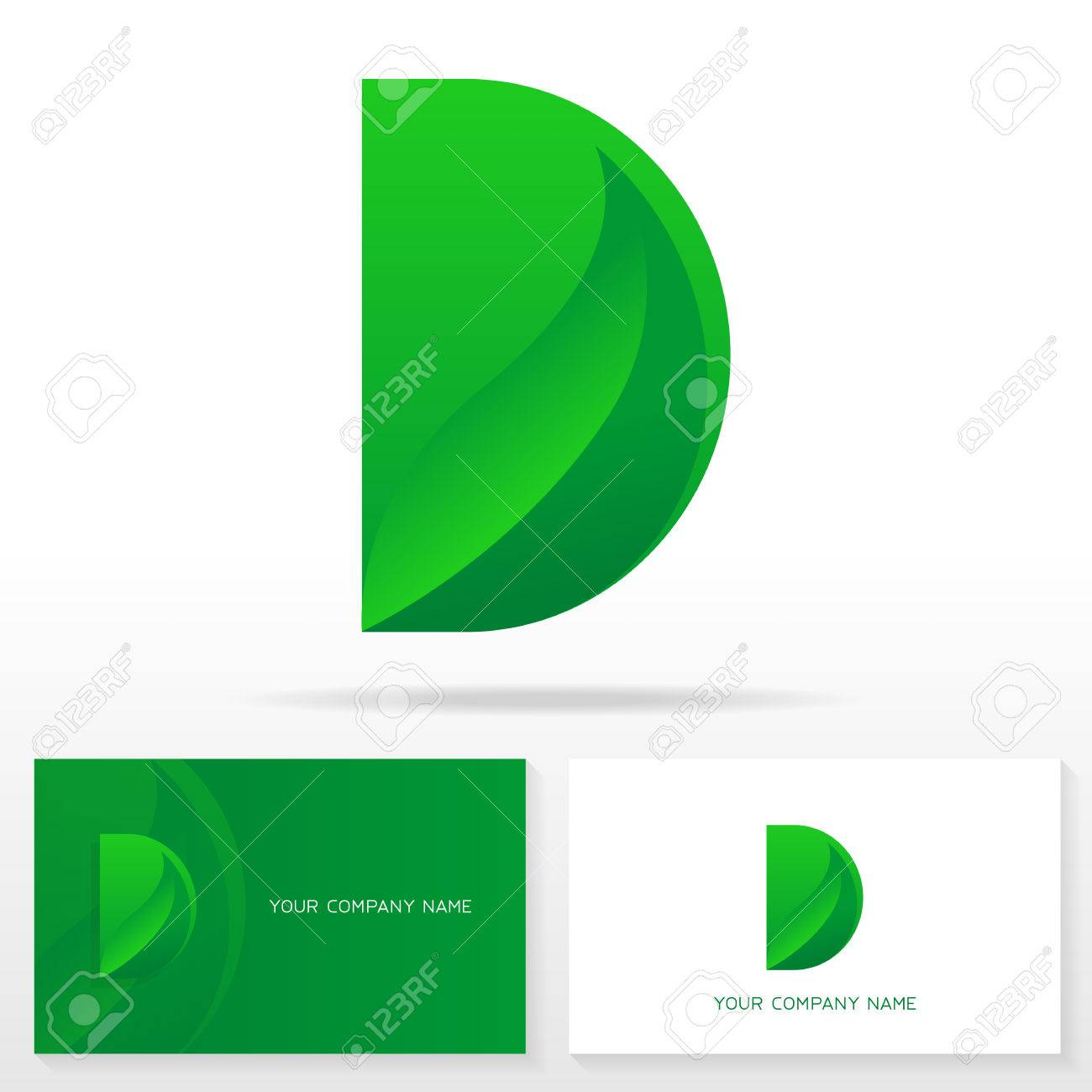 Letter D Logo Icon Design Template Business Card Templates