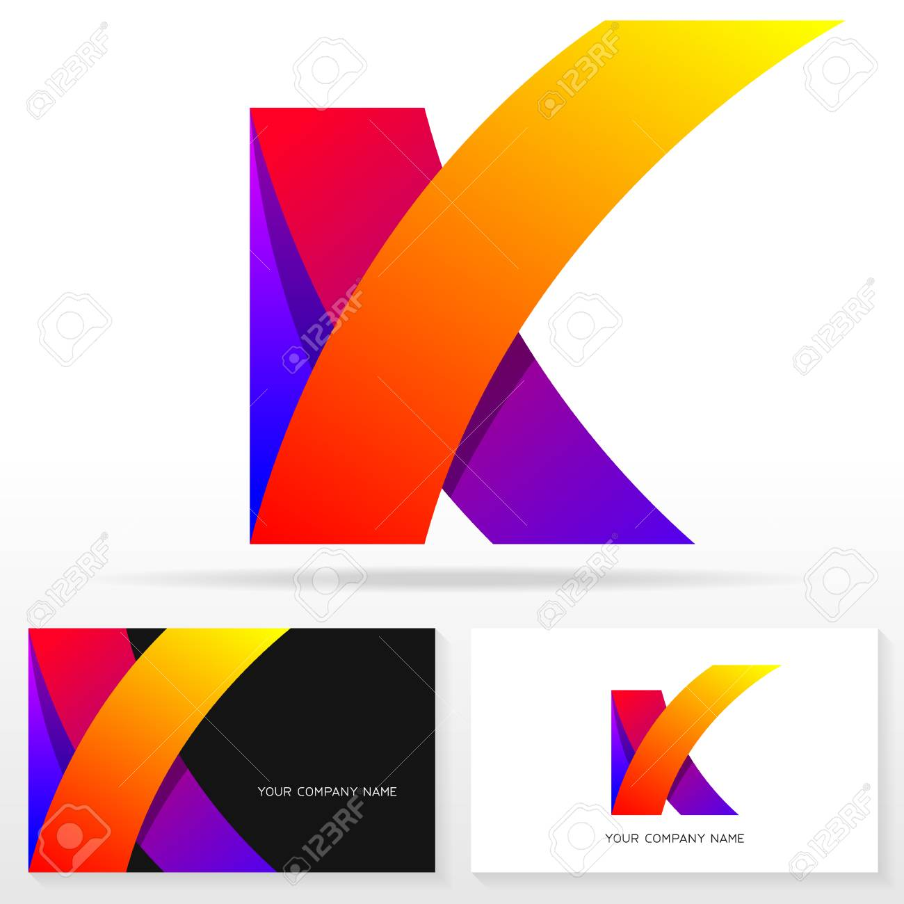 Letter K Icon Design Template Business Card Templates Vector