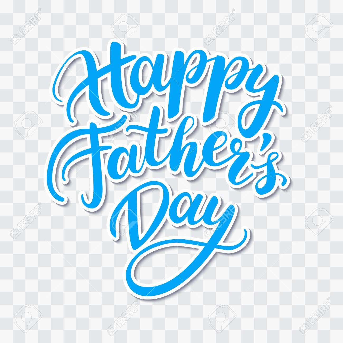 vector happy father s day card with handwritten lettering