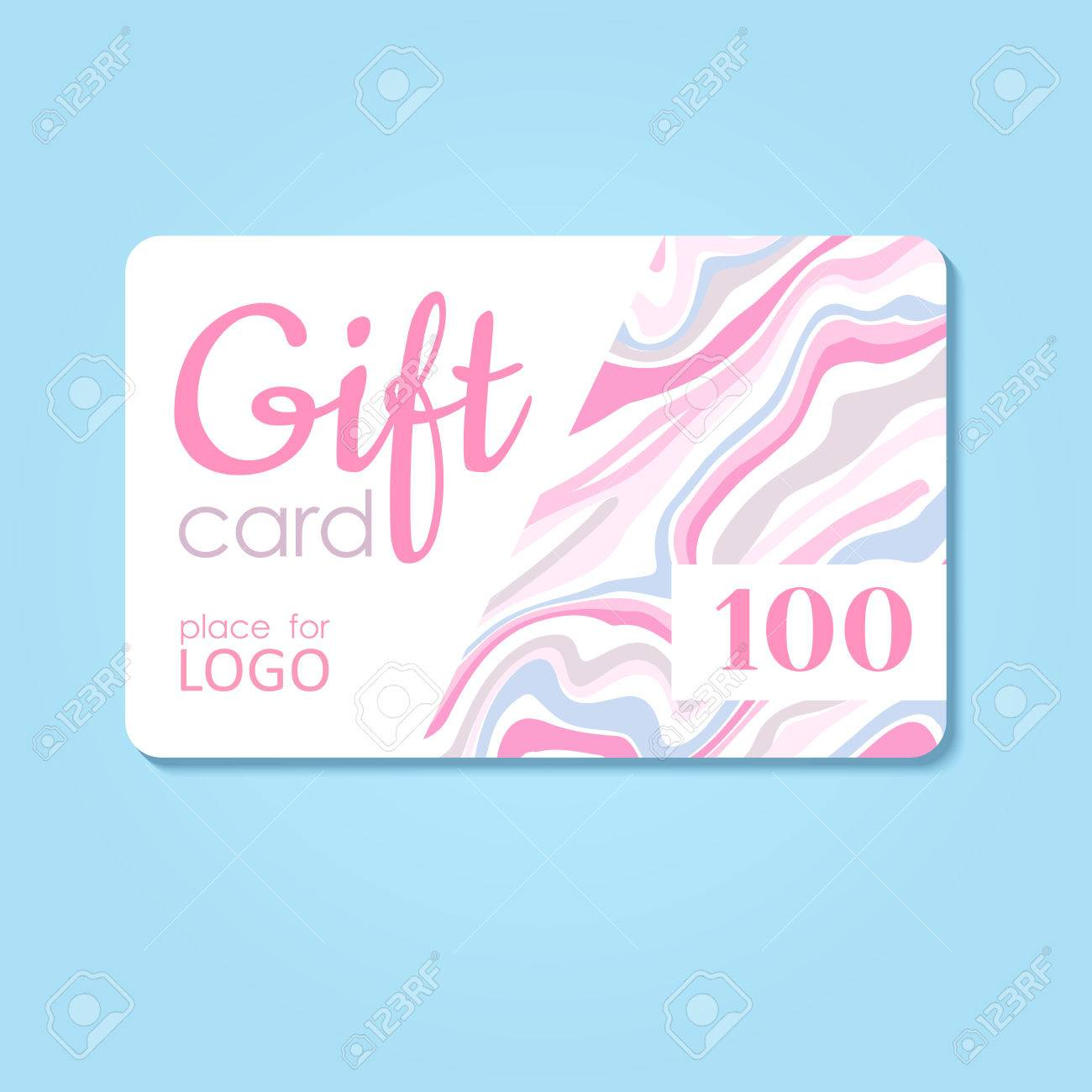 Gift Card. Vector Business Discount Template With Abstract ...