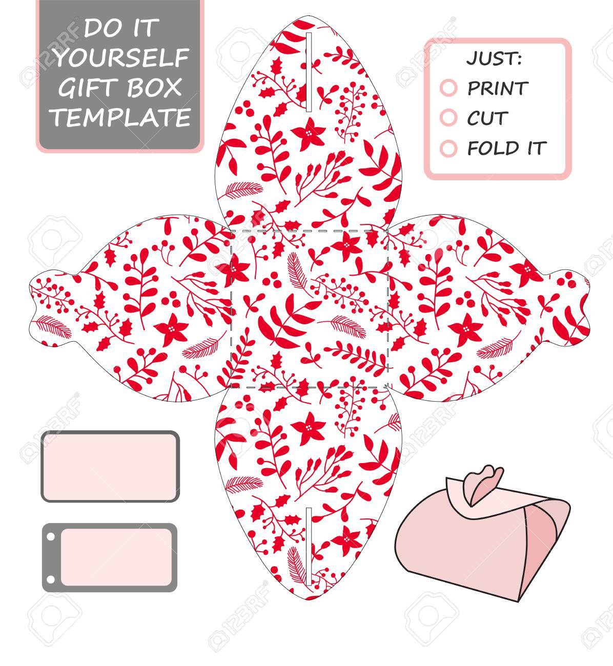 Christmas vector gift packaging template favor gift box die christmas vector gift packaging template favor gift box die cut box template solutioingenieria Images