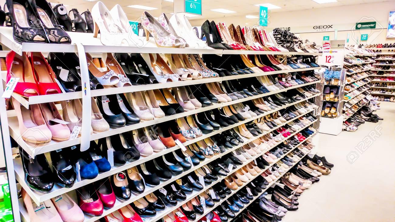 Shop. Shoes Sale.. Stock Photo