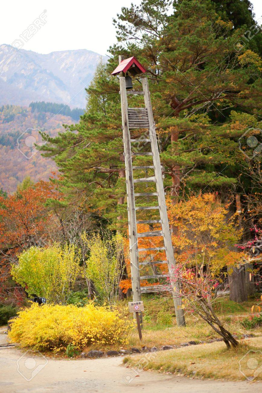 Lookout Tower Plans Fire Lookout Tower In Traditional Japanese Village Shirakawa Go
