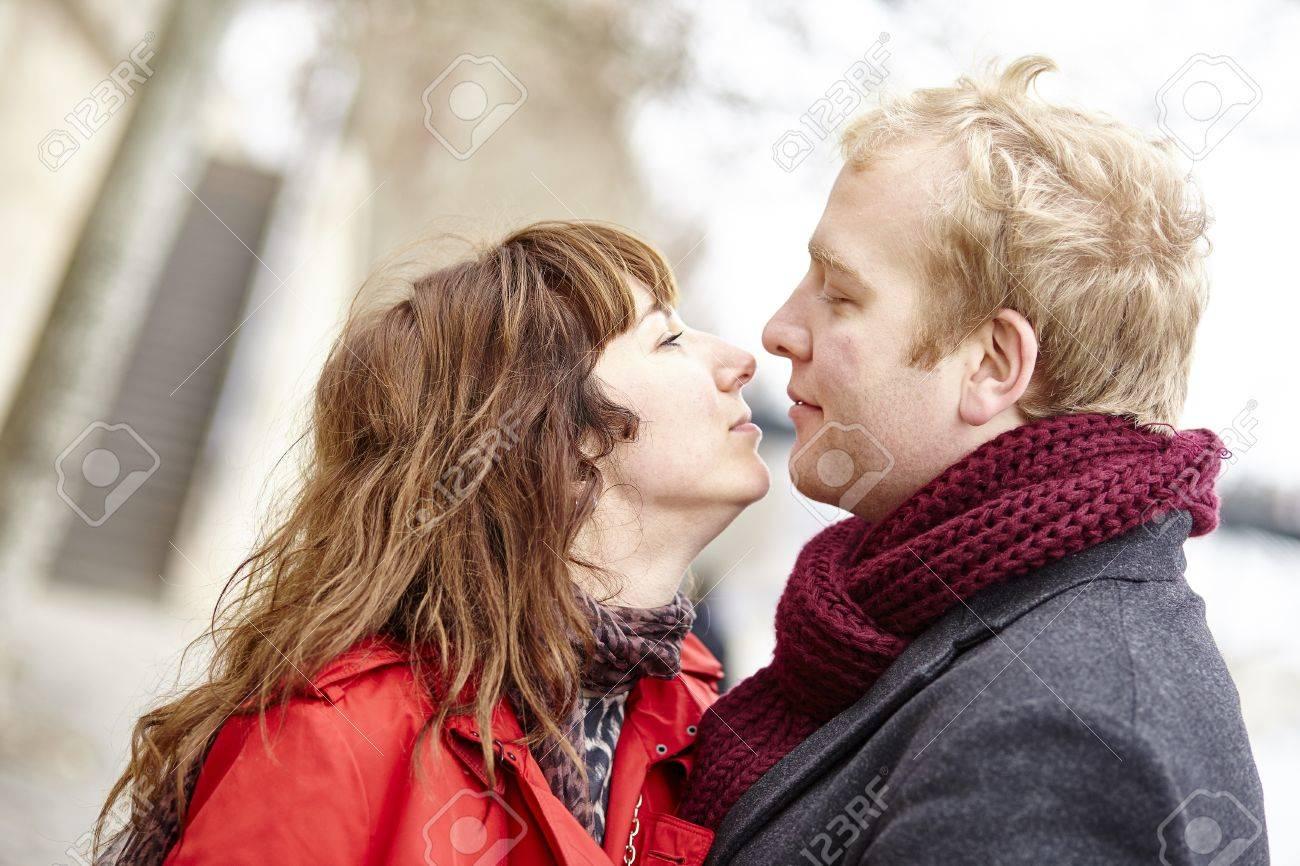 Romantic dating couple in Paris, outdoors Stock Photo - 36228355