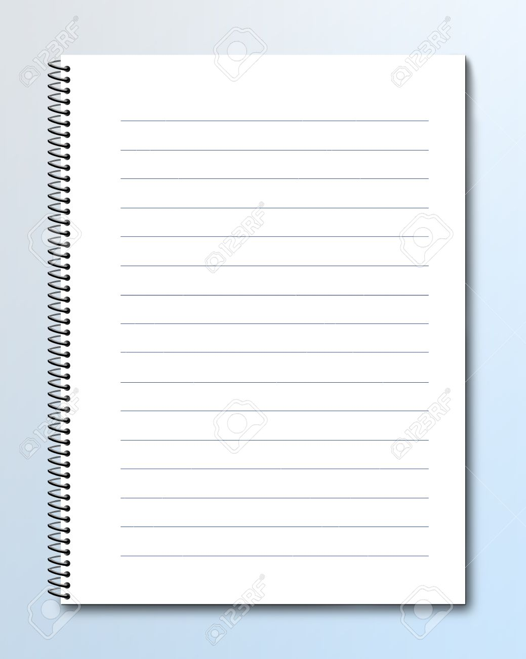 Blank Notebook With Lined Pages Photo Picture And Royalty – Lined Pages for Writing