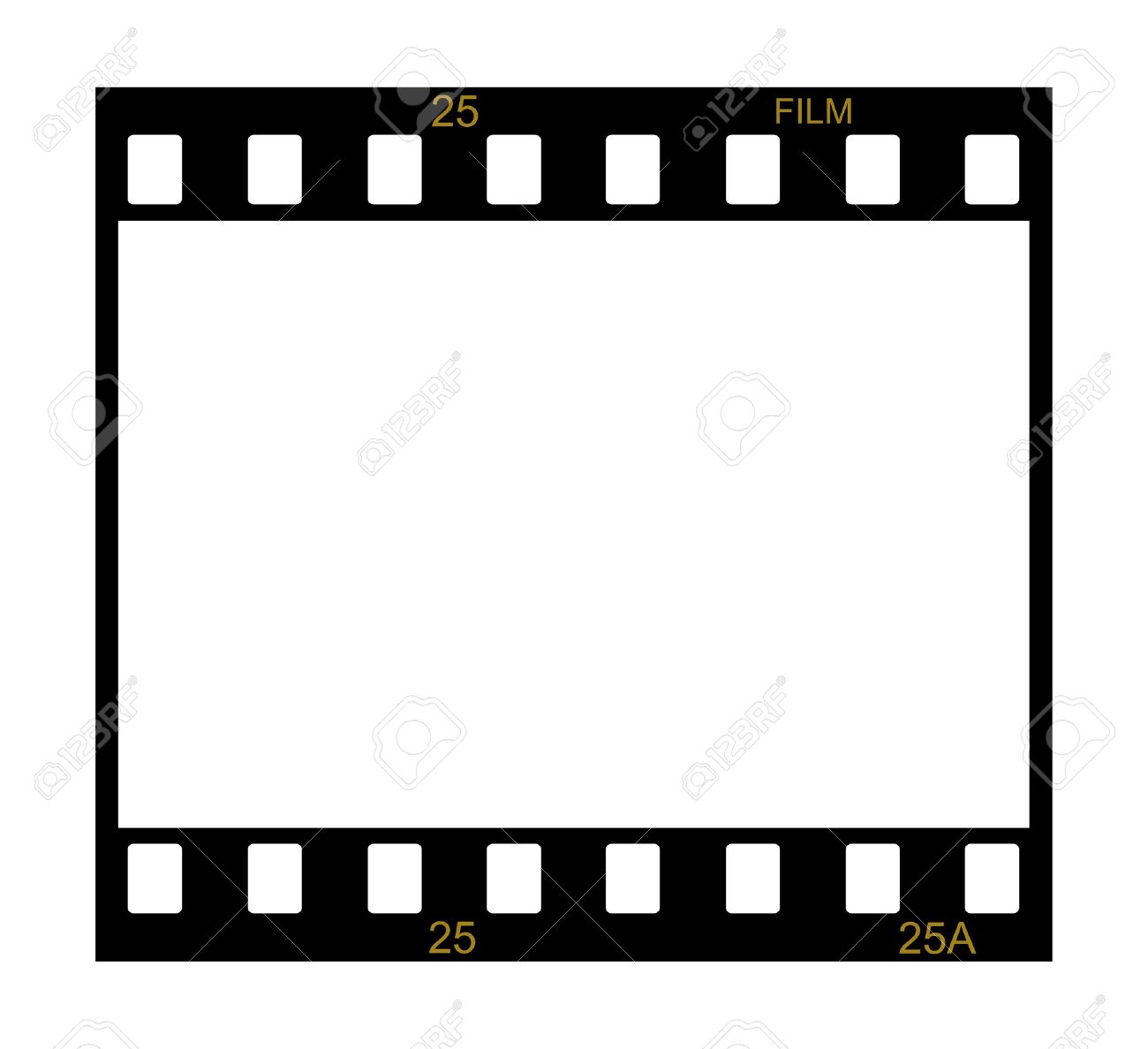 Blank Slide Film Frame On White Background Stock Photo, Picture And ...