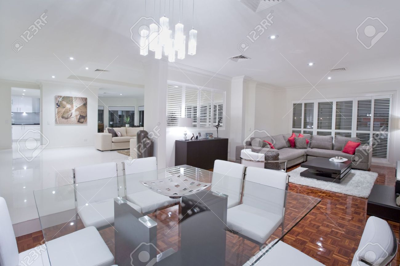 Dining Room Kitchen Luxurious Dining Room With Living Rooms And Kitchen In The