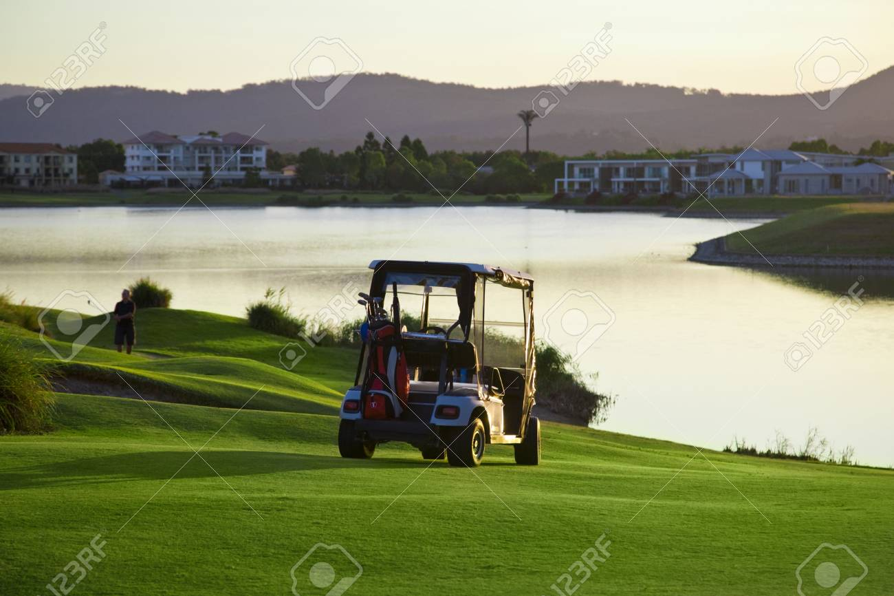 Golf Course and buggies Stock Photo - 6151956