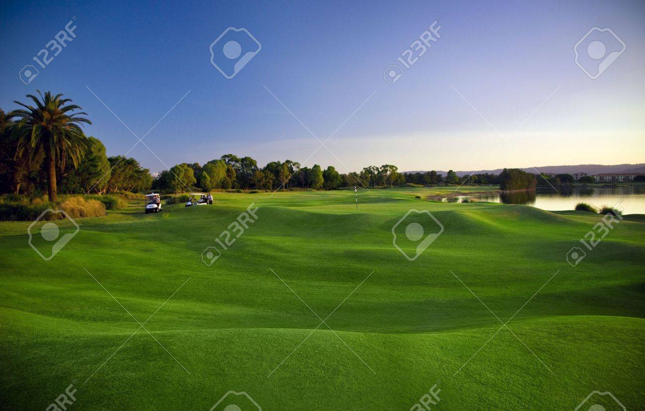 Golf Course and buggies Stock Photo - 6151927