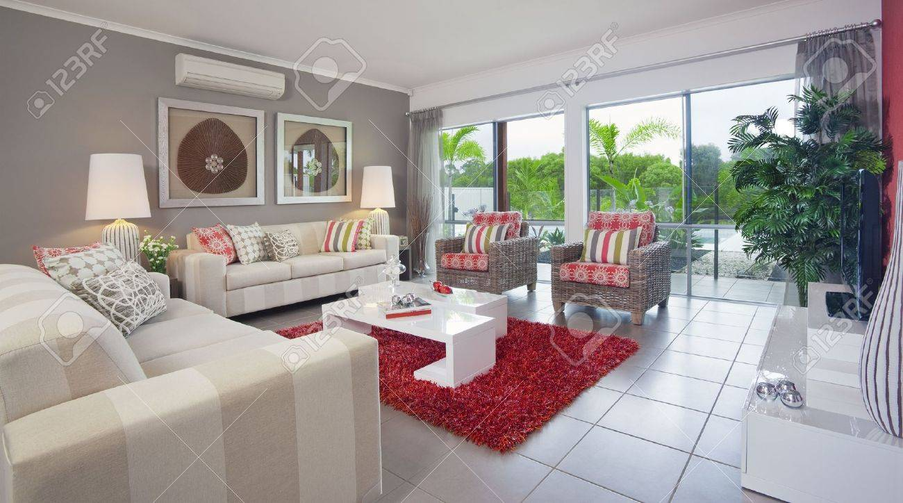 living room in new modern townhouse Stock Photo - 6596224
