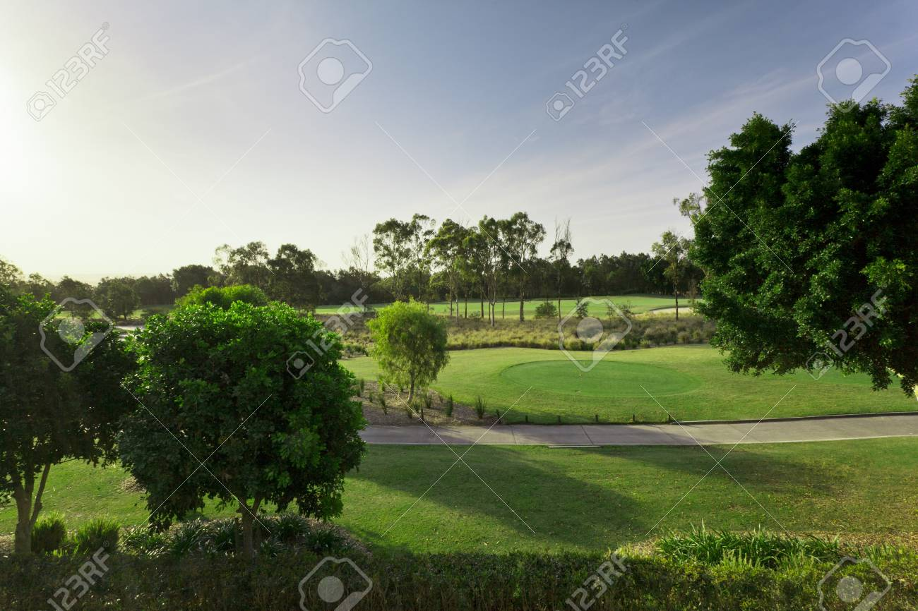 Golf course view from balcony Stock Photo - 13909660