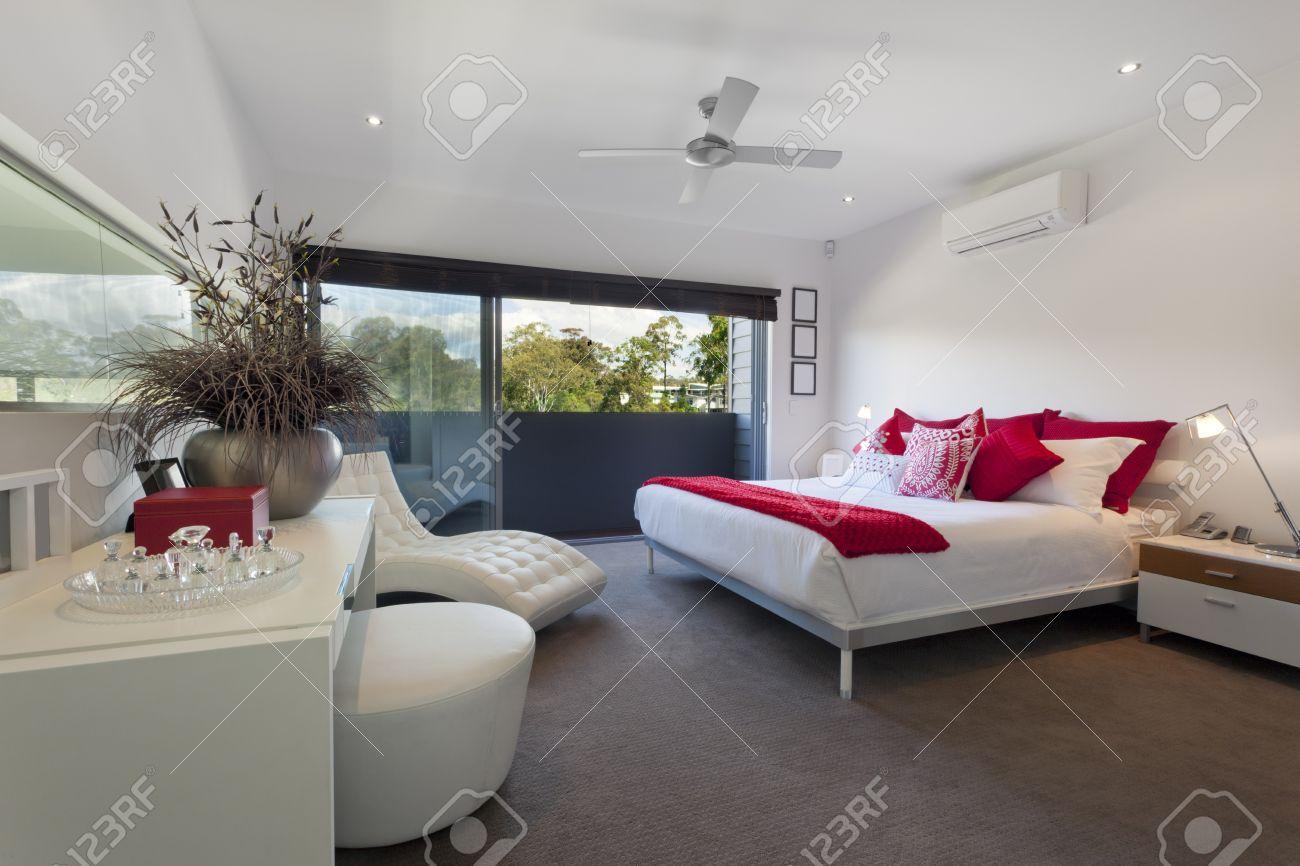 Stock Photo   Stylish Master Bedroom In Luxury Australian Mansion