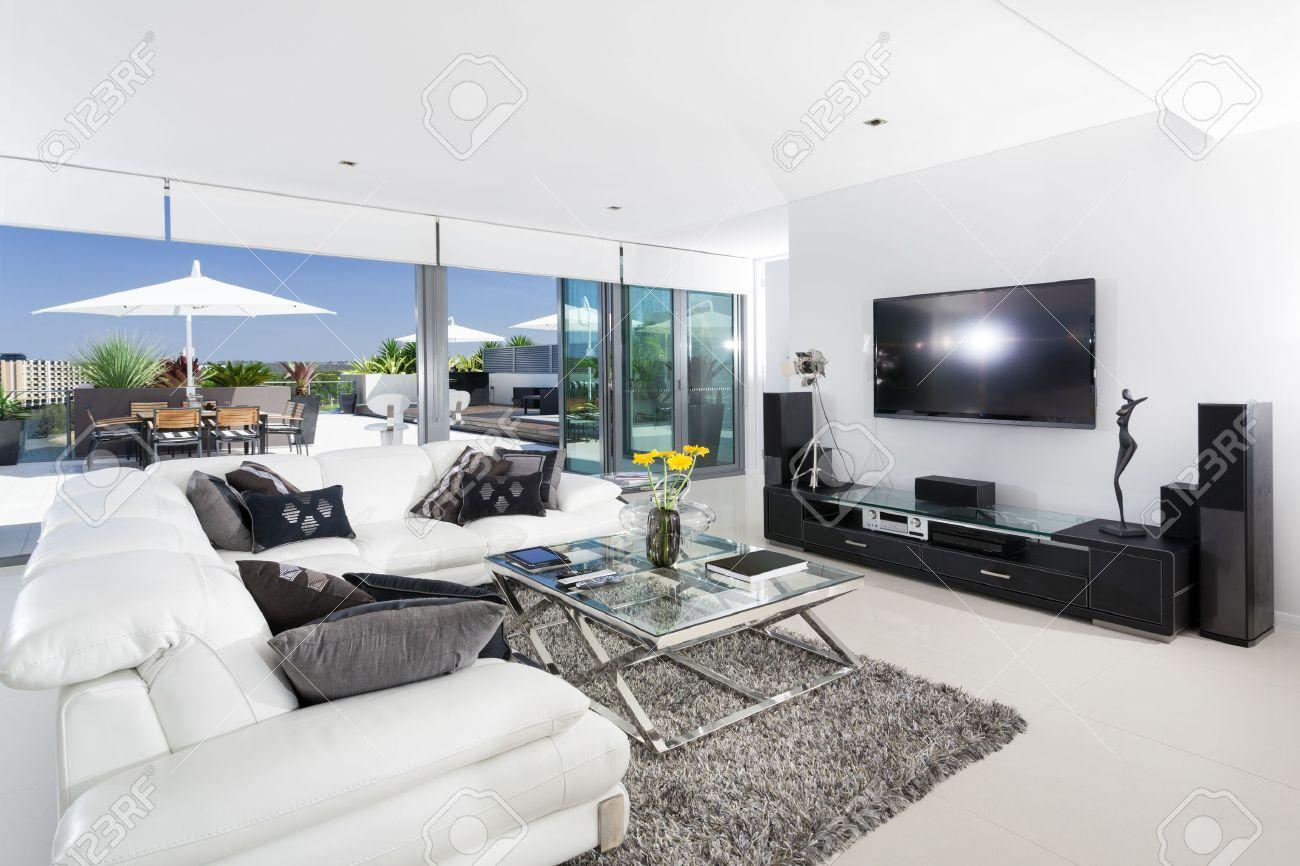 Luxury living room and balcony Stock Photo - 18573545